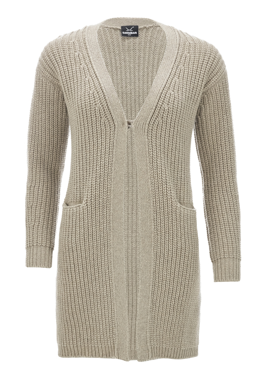 strickjacke beige damen